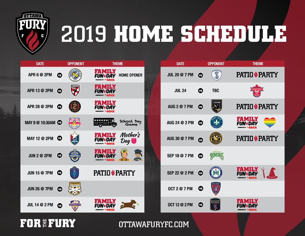 Image of 2019 Home Schedule