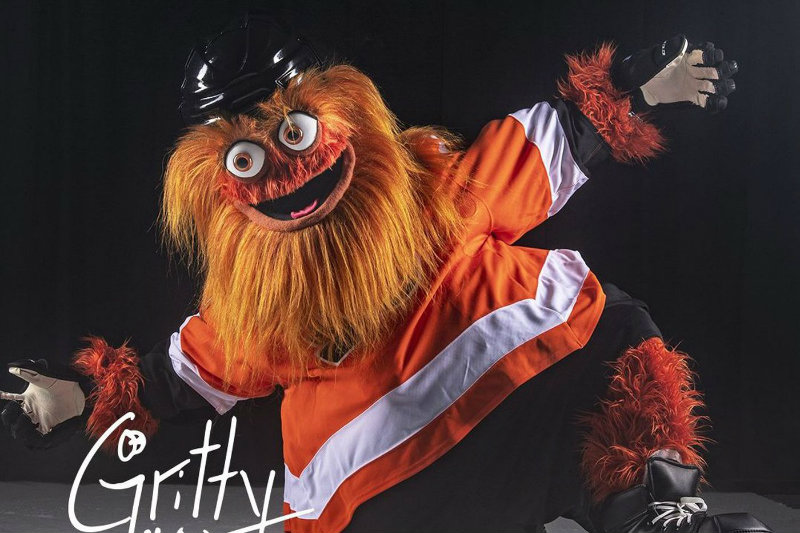 Gritty has been in the league for only two seasons but he's already a titan of NHL mascots. Photo courtesy of the Philadelphia Flyers