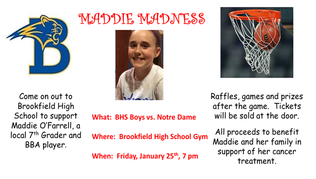 Thank you all who came out in support of Maddie!! What a great night!!