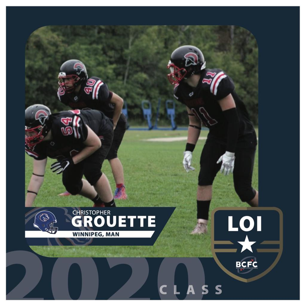 CHRISTOPHER GROUETTE COMMITS