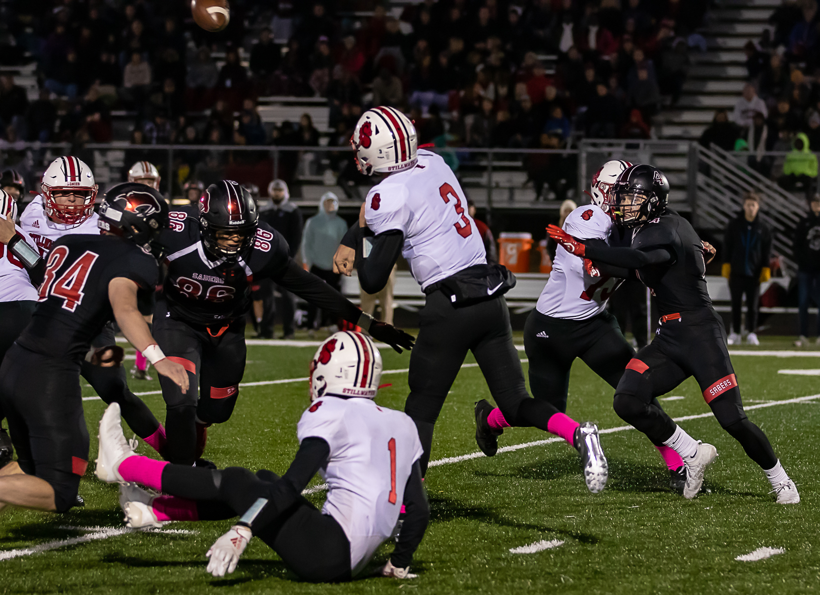 Shakopee's aggressive defense was key in its 34-7 win against Stillwater on Friday night in Shakopee. Photo by Gary Mukai, SportsEngine