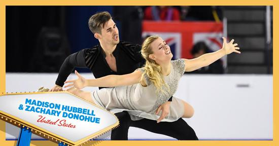 Skate America ice dance competitors - Madison Hubbell and Zachary Donohue - Team USA