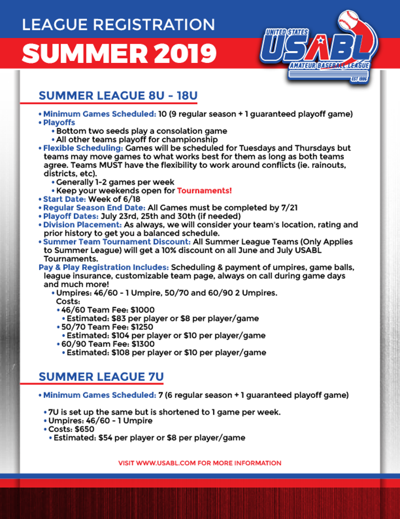 North Jersey Summer Baseball League
