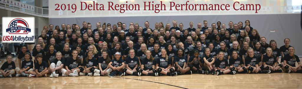Photo of the 2019 Delta Region High Performance Camp Participants