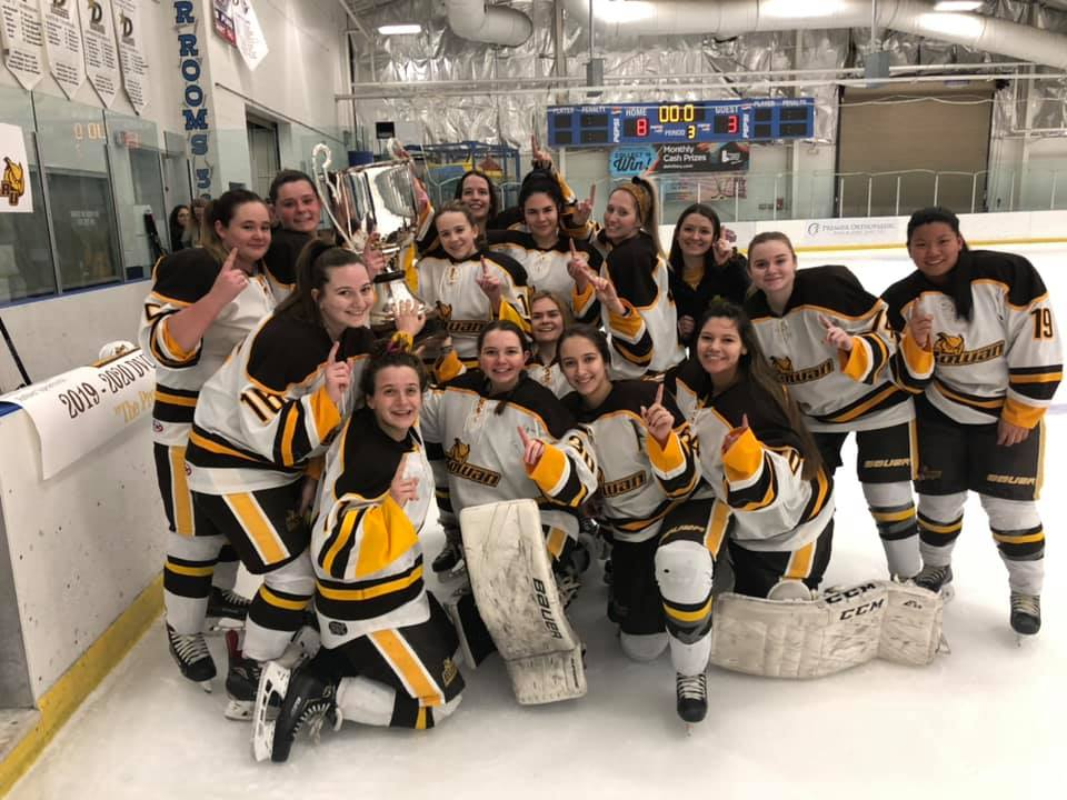Rowan University group shot after winning 2020 D2 Championship!