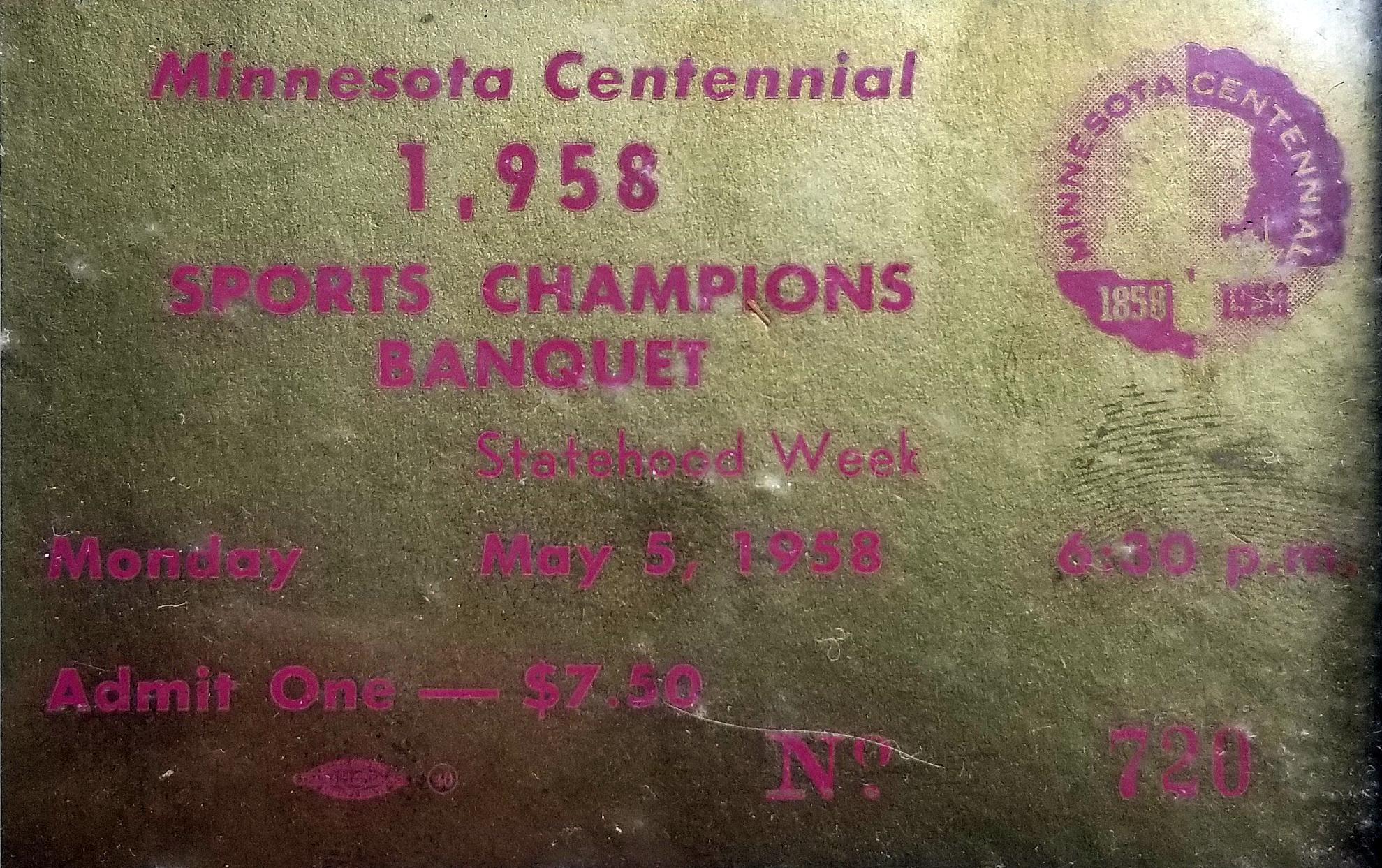 Minnesota Sports Centennial Hall of Fame - 1958