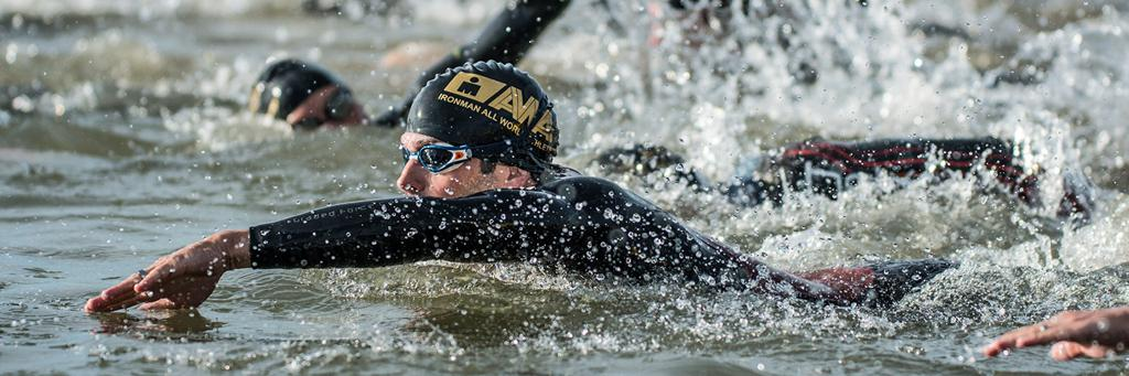 Swimmers at IRONMAN 70.3 Boulder