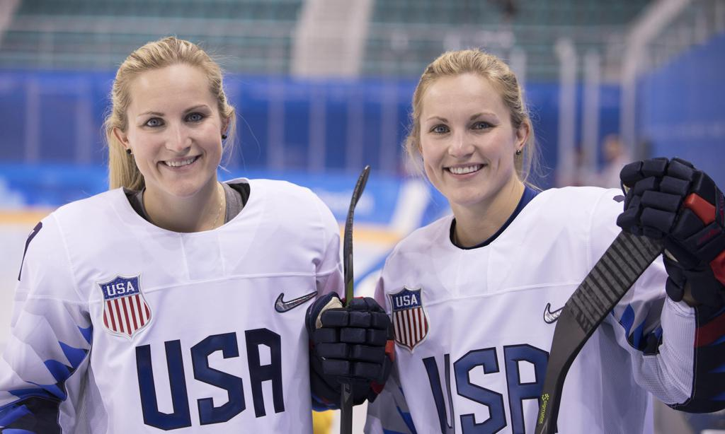 The twins at the 2018 Olympic Winter Games.