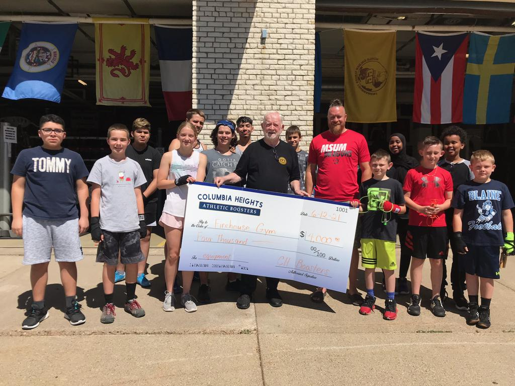 Donation to Upper Midwest Golden Gloves FIREHOUSE GYM