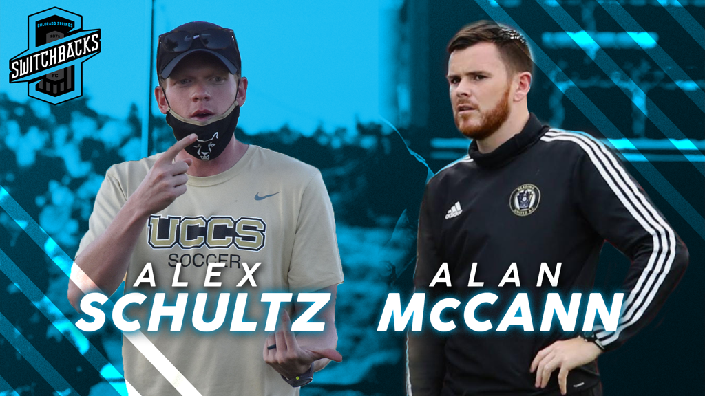 ALAN MCCANN AND ALEX SCHULTZ NAMED TO COLORADO SPRINGS SWITCHBACKS FC TECHNICAL STAFF