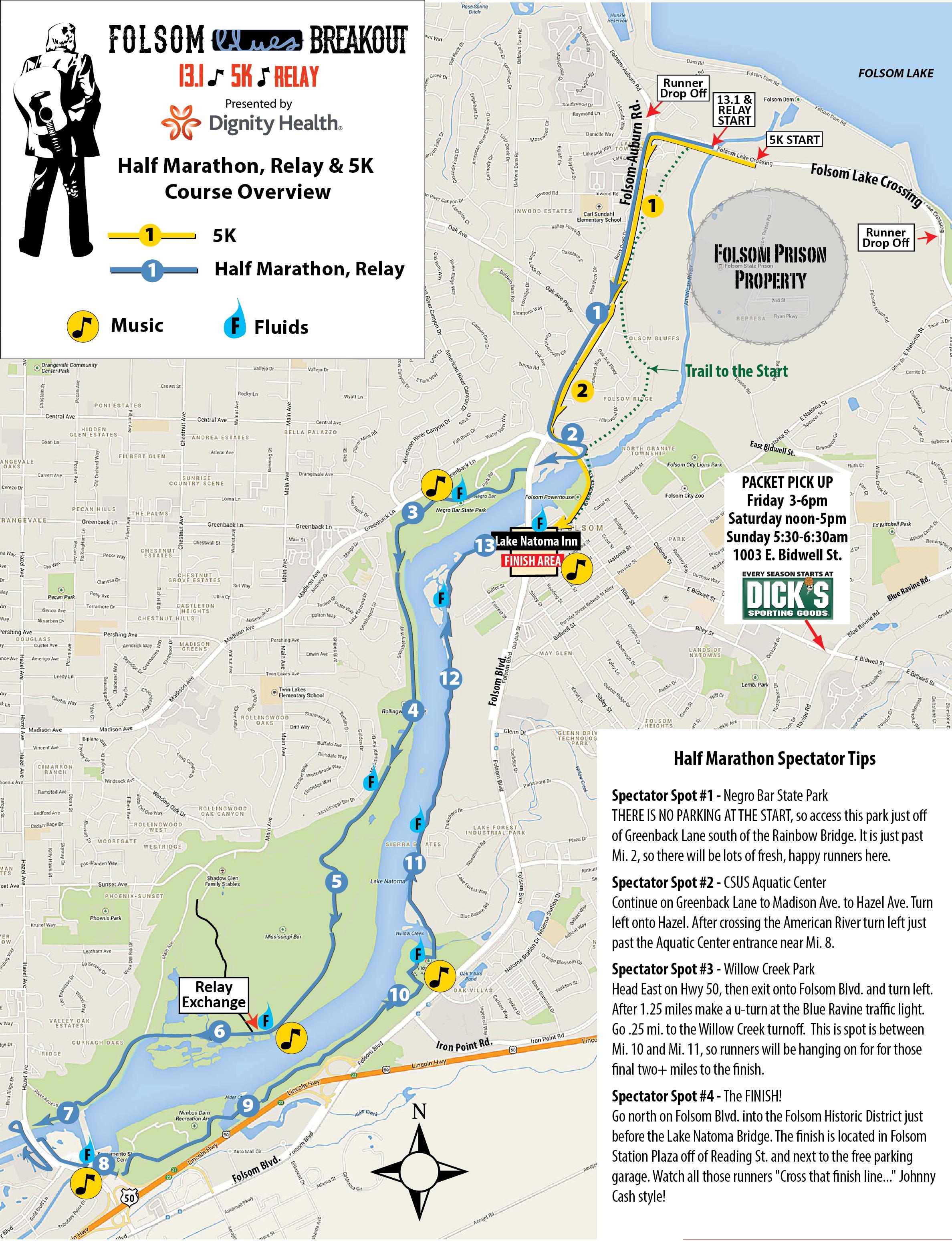FBB Half Marathon Course Map