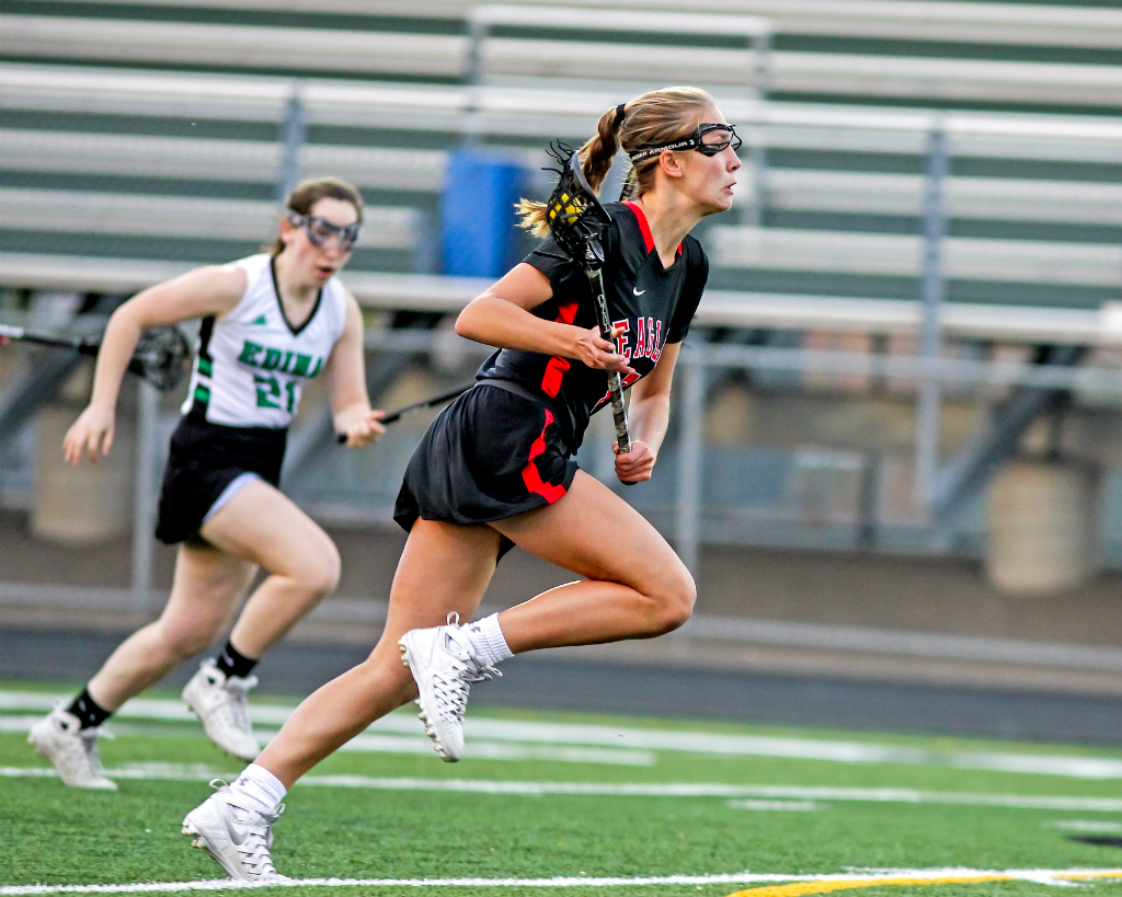 Brooke Lewis tallied 66 goals and 92 points as Eden Prairie's leading scorer. She heads a group of three other Eagles who earned All-American honors. Photo by Mark Hvidsten, SportsEngine