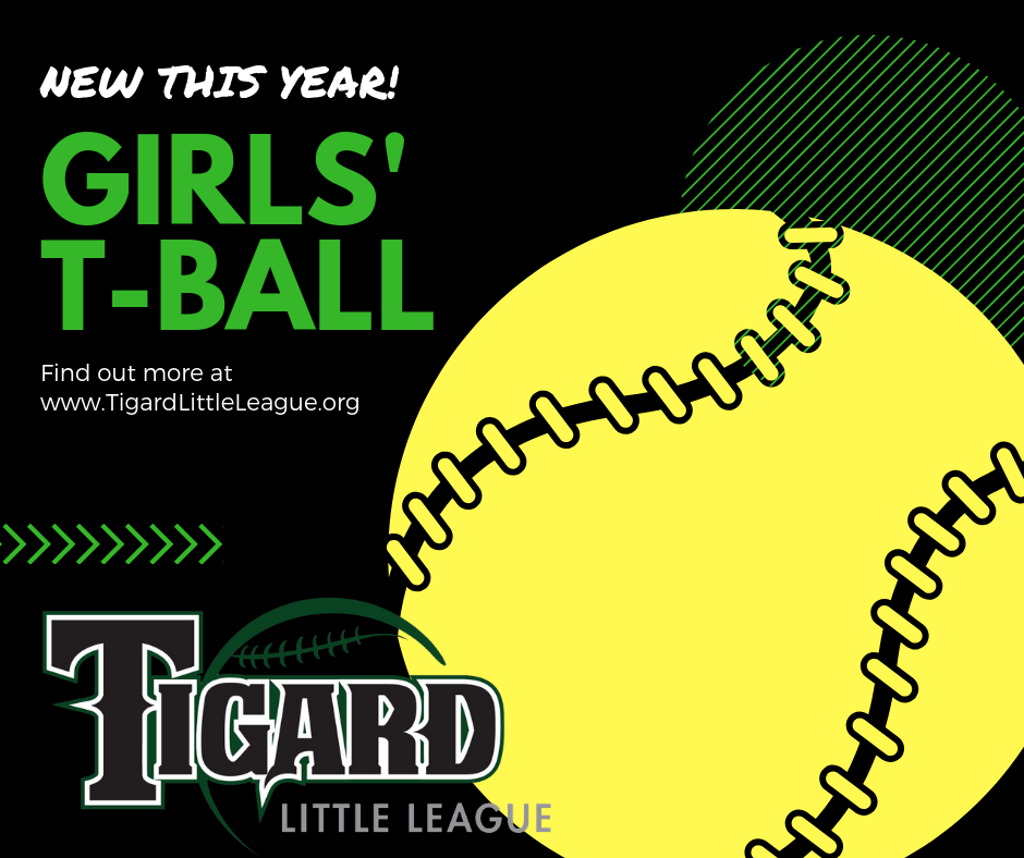 New This Year, Girls T-Ball