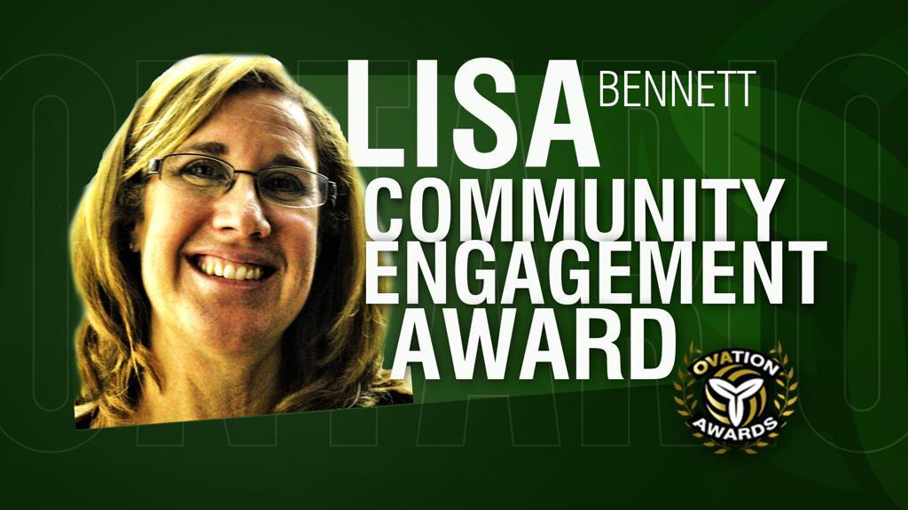 Lisa Bennett OVA Community Engagement Award recipient 2021