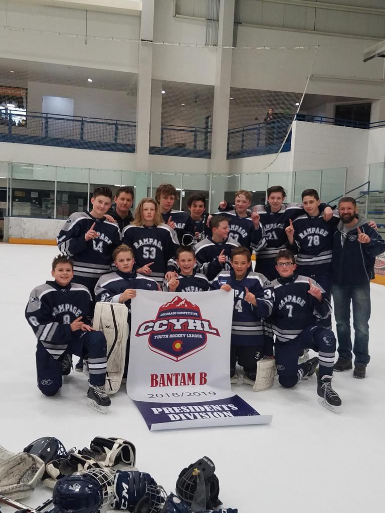 Rampage Bantam B Navy CCYHL Division Champions