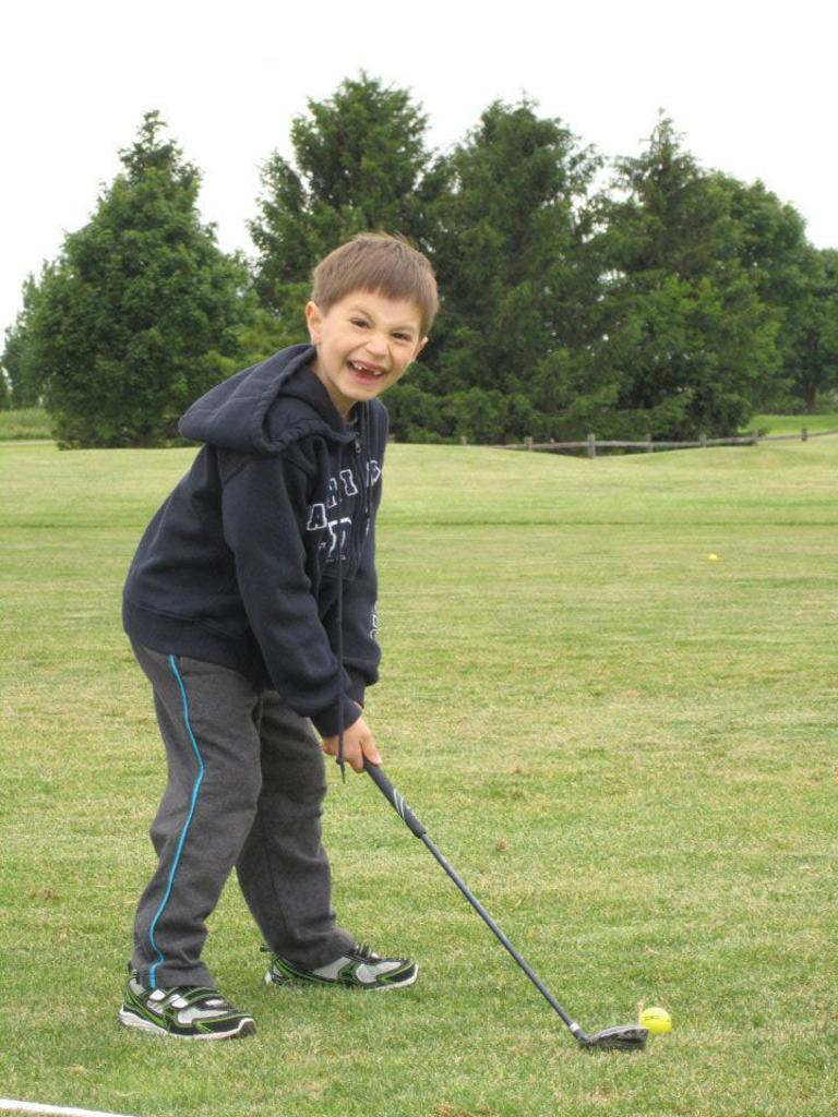 Luke was thrilled to take part in his very first golf clinic at 6-years-old!