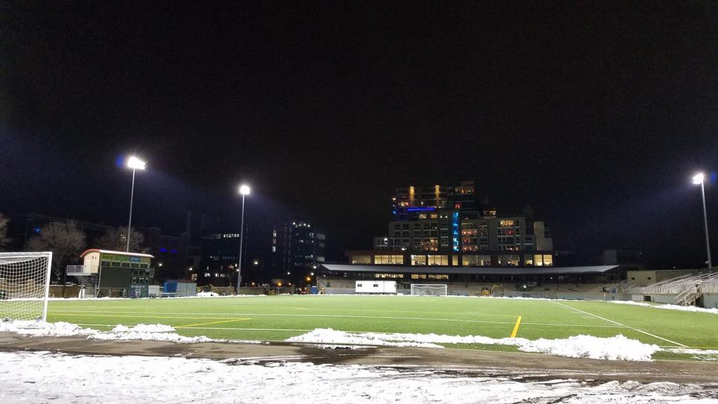 Ending the night at Breese Stevens Field