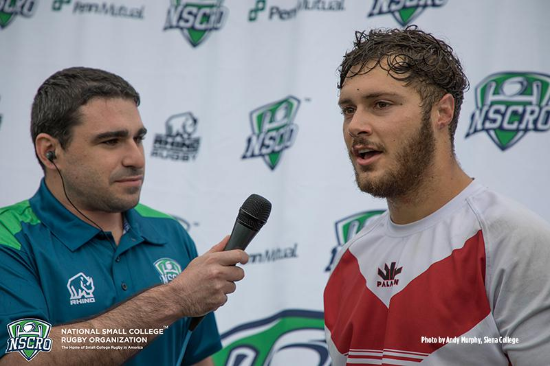 Next Level Rugby 'Man of the Match' Parker Vincent Azusa Pacific University (right) with Brett Anker (left)