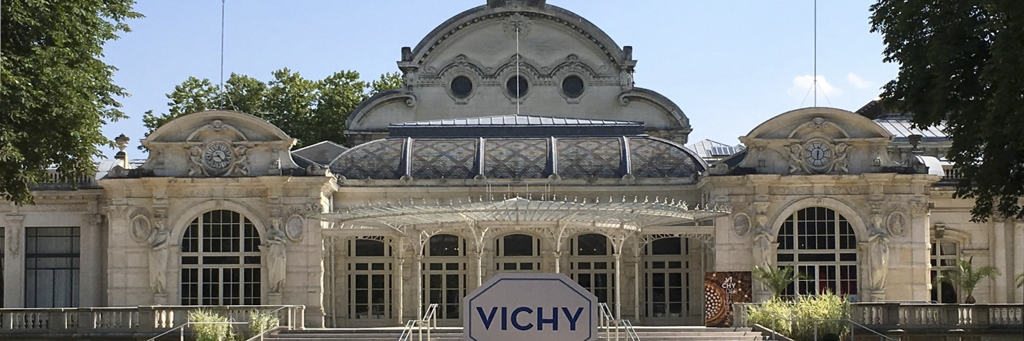 Art Nouveau-style and white colored Opera House of Vichy at IRONMAN 70.3 Vichy
