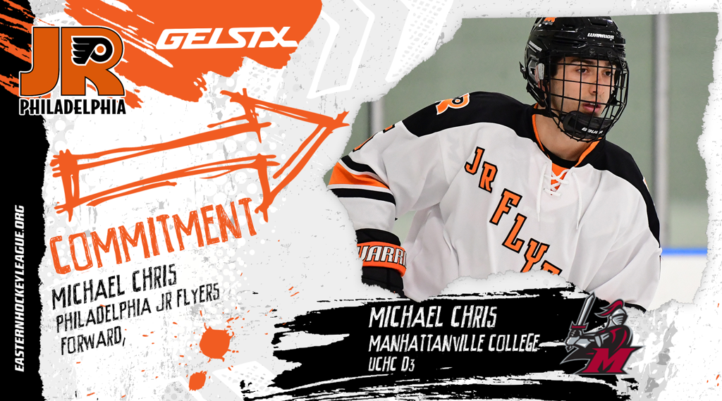EHL Jr. Flyers forward Michael Chris makes NCAA commitment to Manhattanville College
