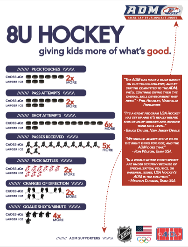 Infographic with Benefits of Cross-Ice hockey