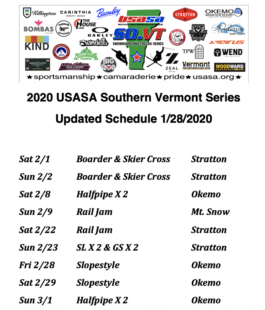 Updated 2020 SVS Schedule - 1/28/20