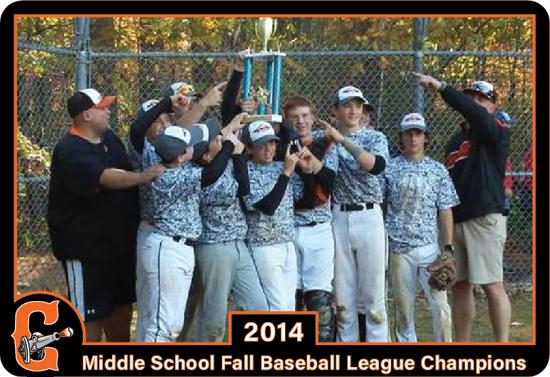 2014 Middle School Fall Baseball League Championship