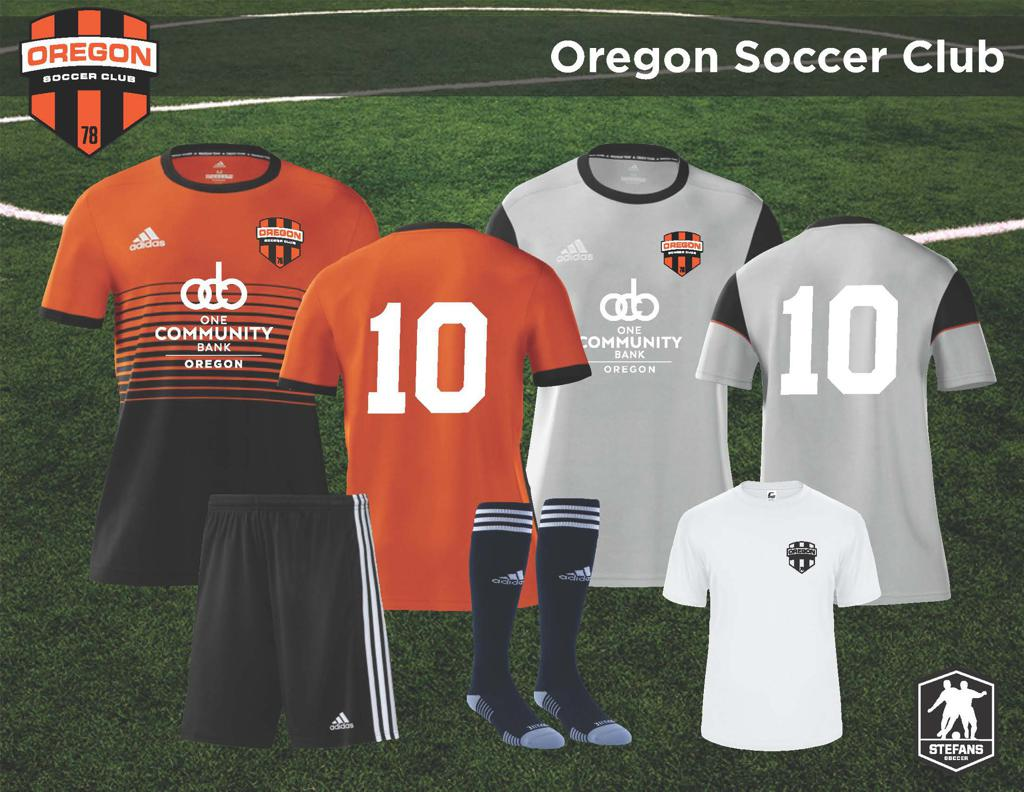 2021-22 Oregon SC Competitive and Academy Uniforms