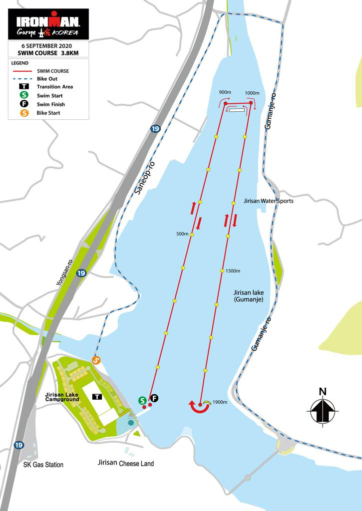 Swim course map IM Gurye