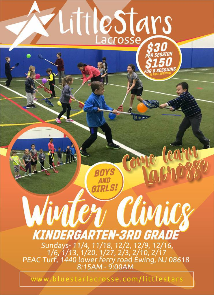 Little Star K-3rd Grade Winter Lacrosse Clinic at PEAC