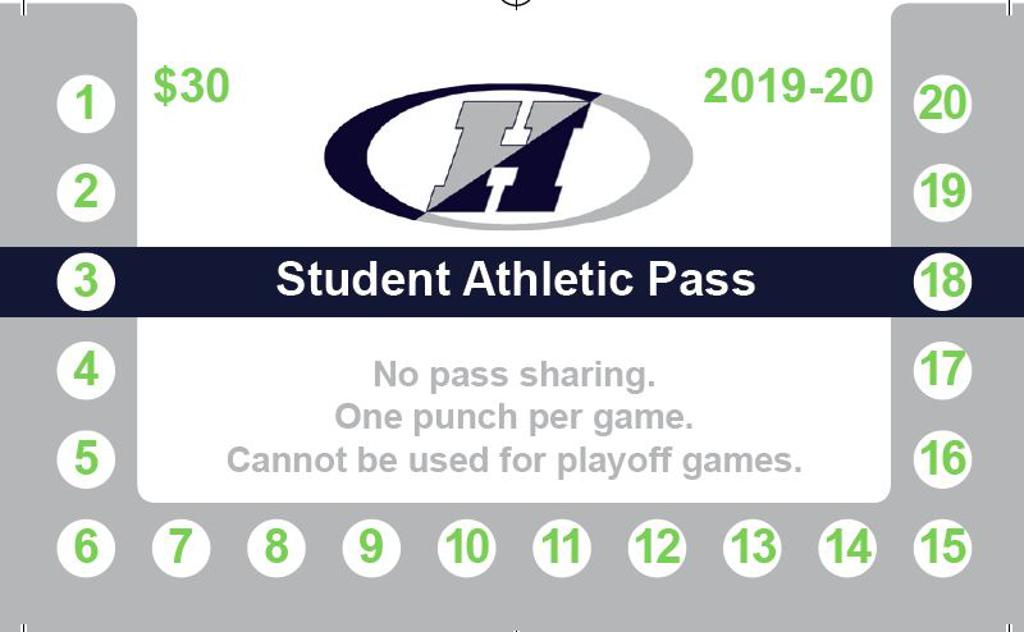 Purchase a 20 game Student Athletic Pass for only $30.00