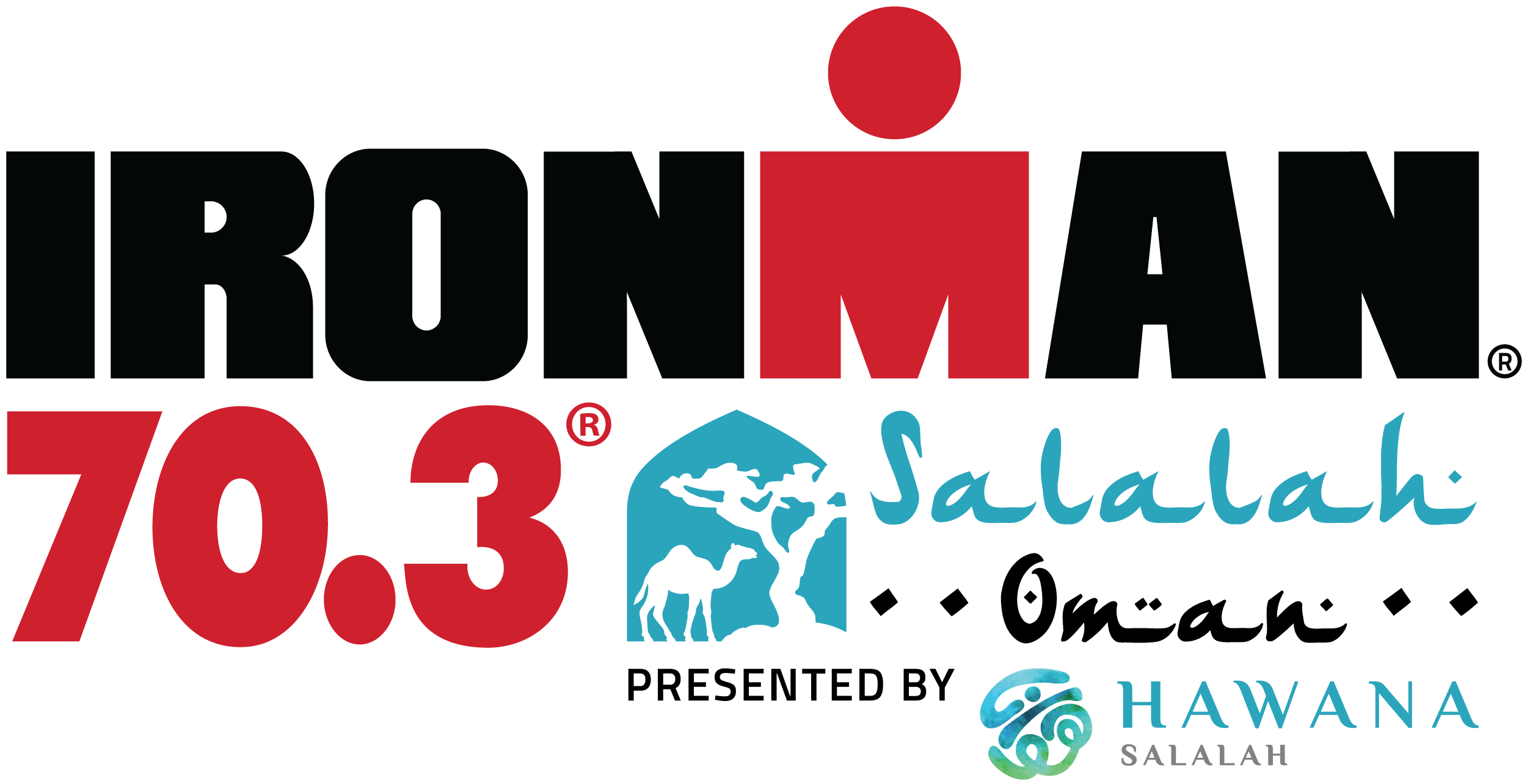 Official IRONMAN 70.3 Salalah presented by Hawana Salalah race logo