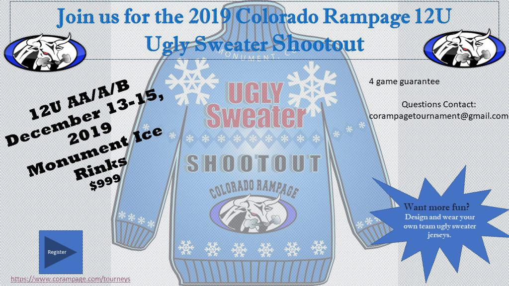 Ugly Sweater Hockey Tournament Colorado Rampage