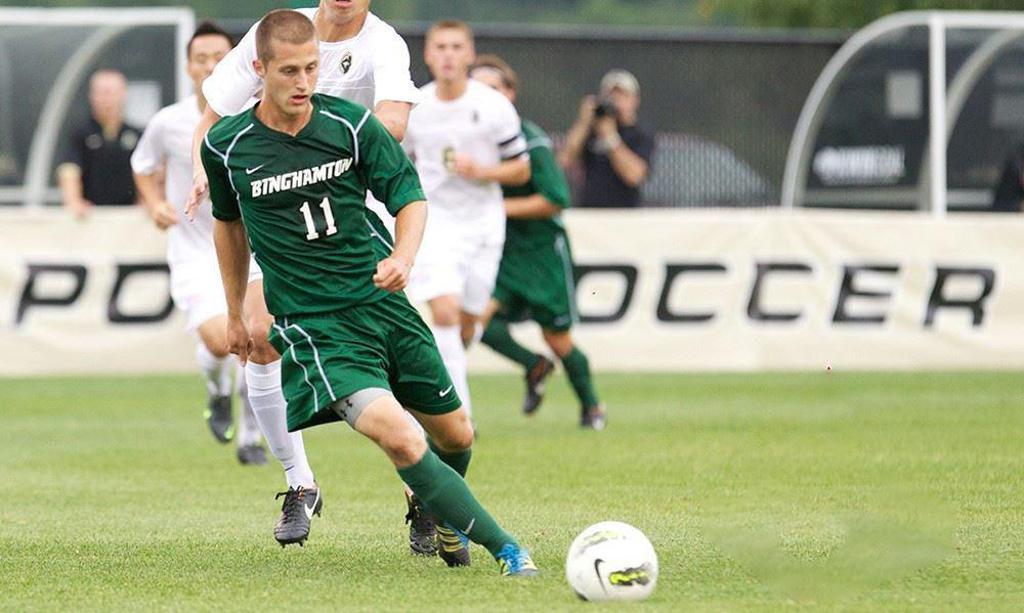 Jake Keegan scored 28 goals for Binghamton University, the most during its Div. I era | Photo via Binghamton University Athletics