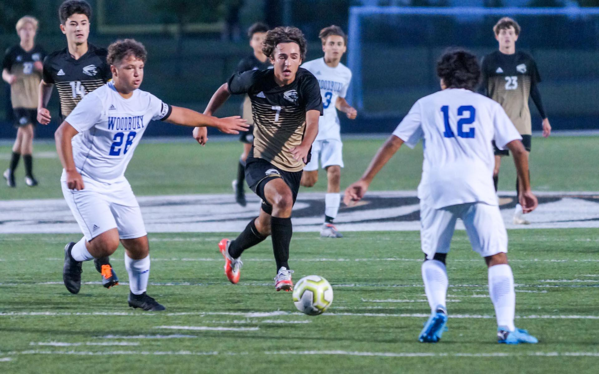 After suffering its first defeat of the season to Woodbury last week, East Ridge faces another tough east metro opponent in Stillwater on Tuesday. Photo by Korey McDermott, SportsEngine