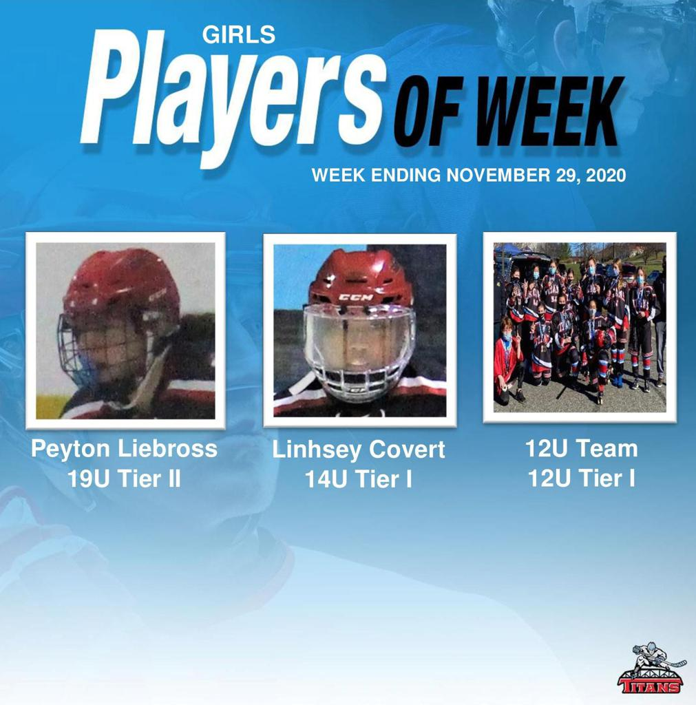 Titans announce Girls' Players of the Week for Week Ending November 29