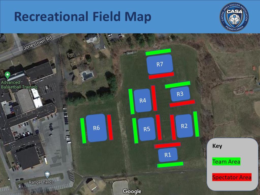Recreational Field Map