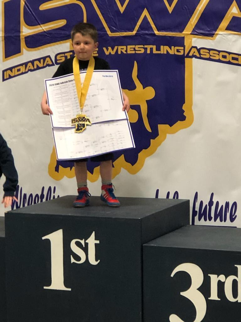 Easton Arthur - State Champion Pee Wee 45