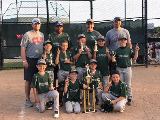 9U Leage Champions: Wildcats Baseball
