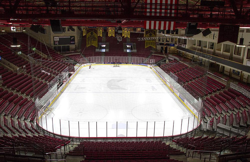 Magness Arena, home of the Pioneers men's hockey team. Photo courtesy of University of Denver Athletics