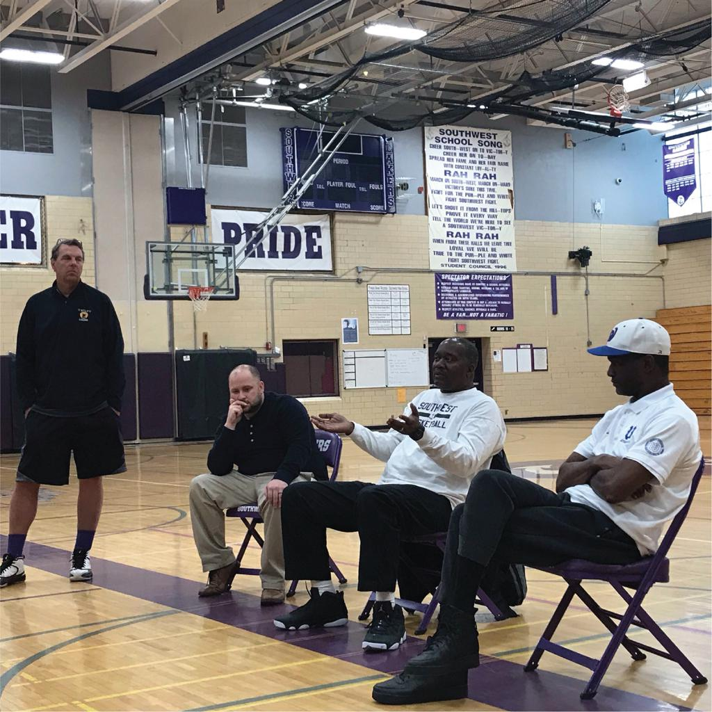 Mpls Lakers Coaching Clinic featuring Brian McCormick with Minneapolis coaches from Southwest High School and Wasburn High School
