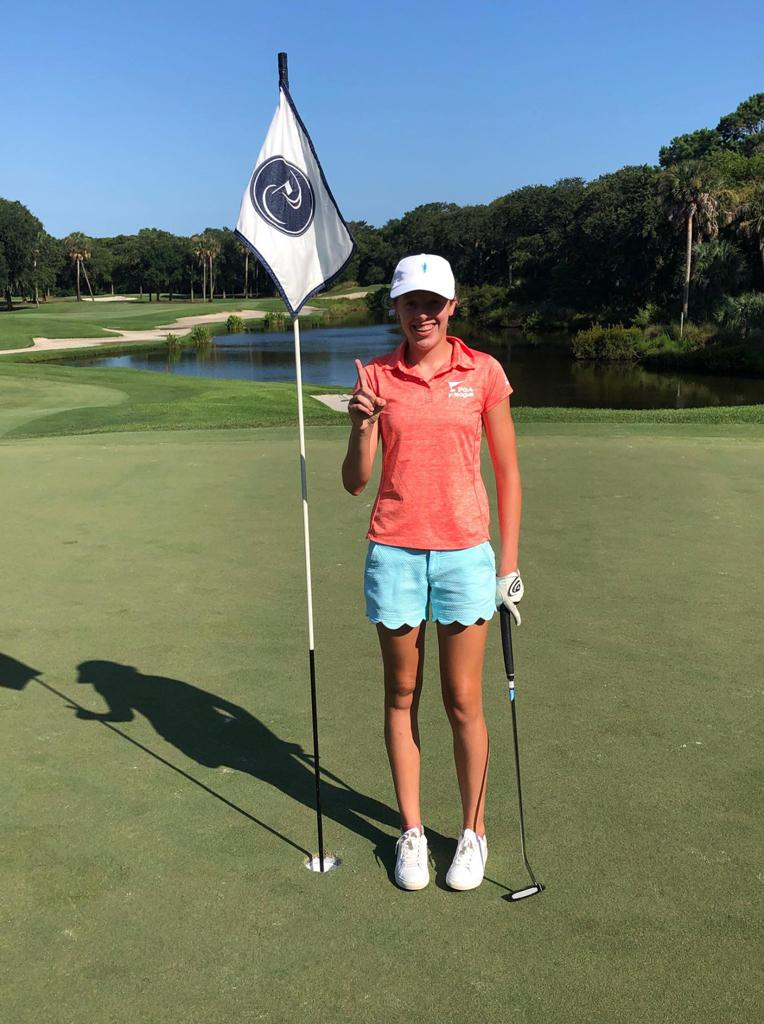 13-year-old Kathryn Cepeda aced Hole No. 5 on Kiawah Island Club's River Course from 135 yards with her 4-Hybrid during a PGA Jr. League match this season!
