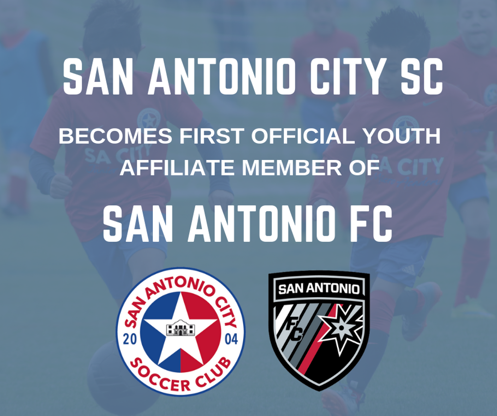 SA City is excited to announce our club as the founding member of the San Antonio FC Youth Club Affiliate Network!  We look forward to collaborating with San Antonio FC and expanding the player pathway for our San Antonio City Soccer Club. Click Image!