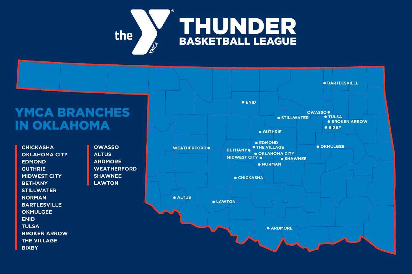 YMCA Thunder Basketball League Locations