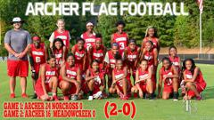 Flag football game 1 and 2 poster small