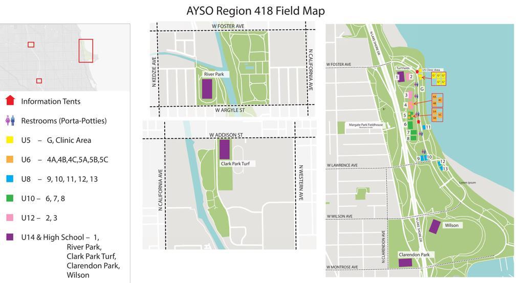 AYSO Field Map