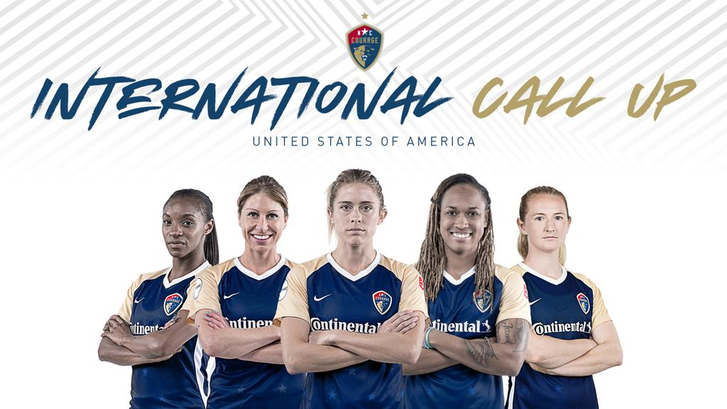 Five Nc Courage Players Called To Us National Team Roster For Friendlies Against Australia And Belgium As Countdown To The Cup Continues