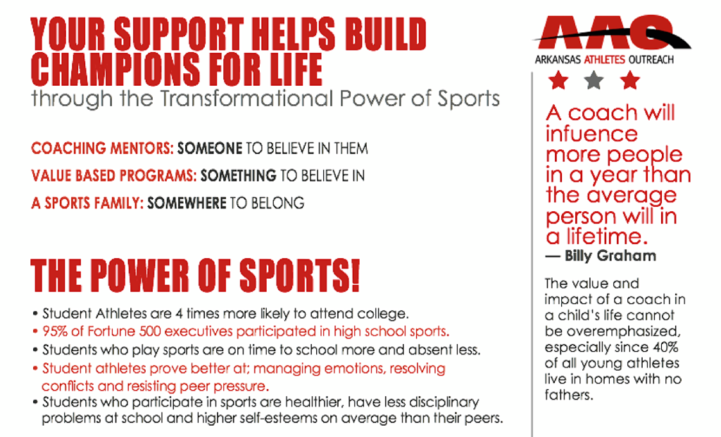 Give to AAO to help build champions for Life