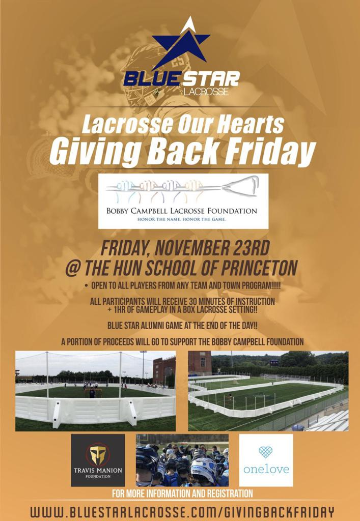 Lacrosse Our Hearts Giving Back Friday