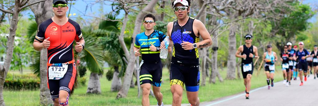 Runners participating in IRONMAN 70.3 Taiwan